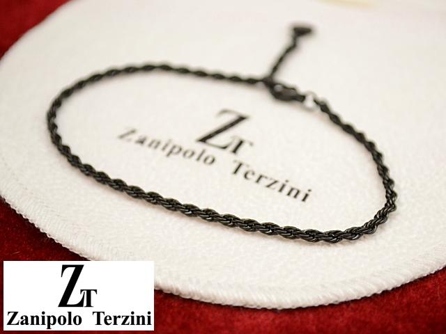 画像1: Zanipolo Terzini【ザニポロタルツィーニ】ステンレスロープチェーンブレスレット ブラック (1)