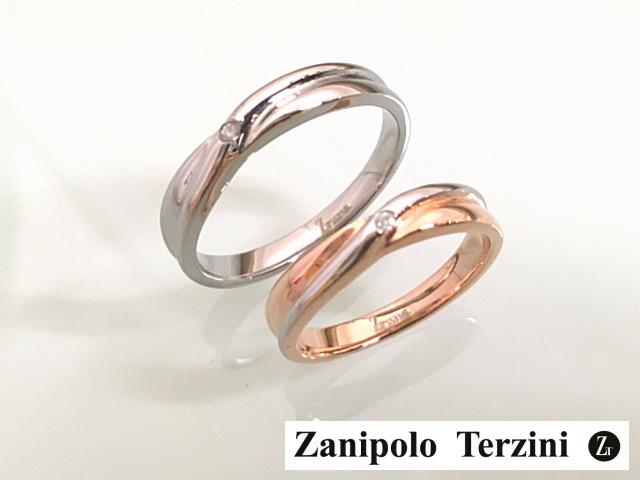 画像1: クロス&ダイヤ★サージカルステンレスペアリング【ザニポロタルツィーニ】Zanipolo Terzini☆ (1)