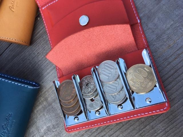 画像1: 小銭が仕分けられる!コインキャッチャー付ミニウォレット 本革ミニ財布 (1)