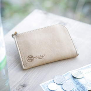 画像1: 革工房【パーリー】エルクレザーL型財布 ふんわり極上の肌触りフィンランドエルクレザー (1)