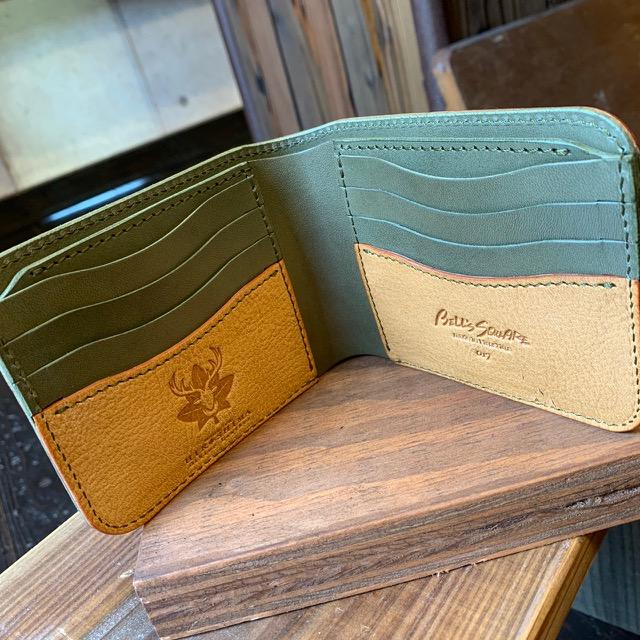 画像1: 【広島ジビエレザー】柔らかい鹿革★カード&札入れ二つ折り財布!キャッシュレス時代にオススメ (1)