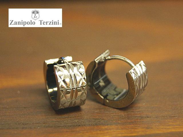 画像1: Zanipolo Terzini【ザニポロタルツィーニ】ステンレスフープピアス エッジパターン (1)