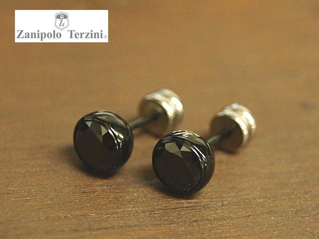 画像1: Zanipolo Terzini【ザニポロタルツィーニ】ステンレスピアス ビッグブラックキュービック (1)