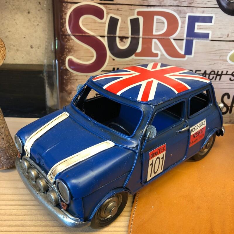 画像1: 【ブリキ自動車模型】イギリス国旗★ミニカー★クラシックミニカー (1)