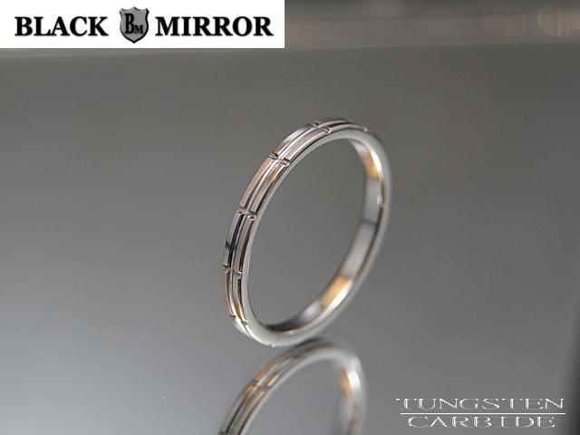 画像1: BLACK MIRROR【ブラックミラー】タングステンリング モザイクリング2mm幅 (1)