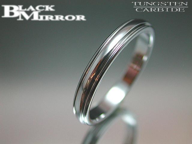 画像1: BLACK MIRROR【ブラックミラー】タングステンリング 甲丸スリットリング3mm幅 3,15,17,19,23,25,27号のみ (1)