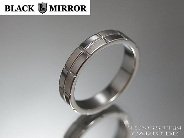 画像1: BLACK MIRROR【ブラックミラー】タングステンリング モザイク模様4mm幅リング 3,5,7,17,19,21号のみ (1)