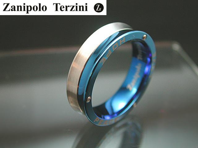 画像1: Zanipolo Terzini【ザニポロタルツィーニ】サファイアブルーサージカルステンレスリング ZTR1304MEN (1)
