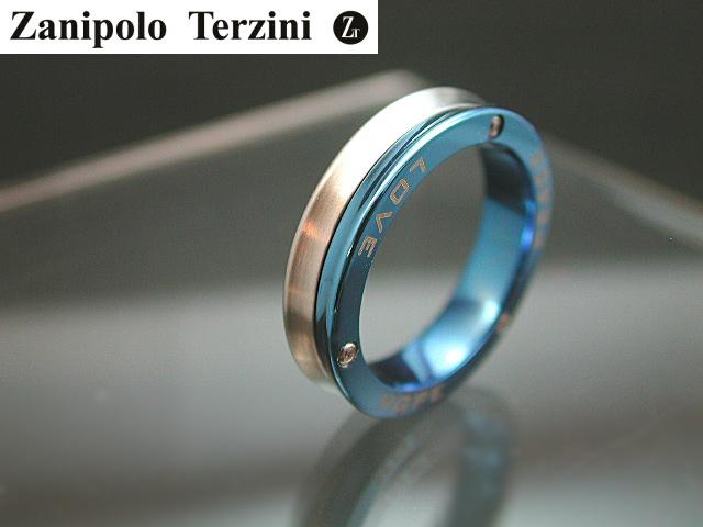 画像1: Zanipolo Terzini【ザニポロタルツィーニ】サファイアブルー!ステンレスリング ZTR1304LADY (1)