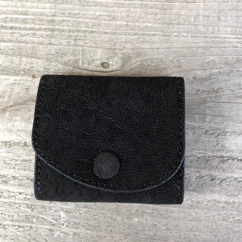 画像1: 【限定販売】象革 本革ボックスコインケース 写真の現品1点販売です (1)