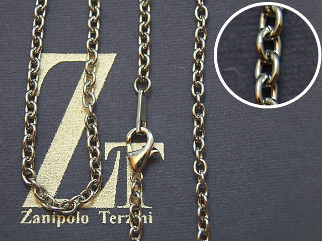 画像1: Zanipolo Terzini【ザニポロタルツィーニ】ステンレスチェーン(太め小豆タイプ)ZTC2202 (1)